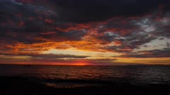 Firey Pacific Sunset clouds