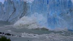 Perito Moreno Glacier Ice Falling in Argentine Patagonia