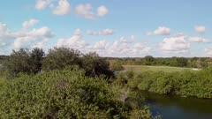 aerial view of Florida wetlands