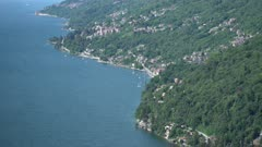 Lake Maggiore in northern Italy aerial view