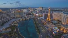 Time lapse of Las Vegas in sunset