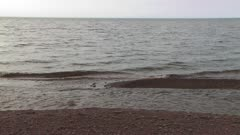 Lake Superior, Gentle Waves on Shoreline