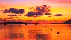 Morning mood at the bay of Puerto Pollenca, Majorca, Balearic Islands, Spain, Mediterranean, Europe