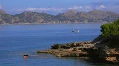 Coast near S'Illot, Badia de Pollenca, Majorca, Balearic Islands, Spain, Mediterranean, Europe