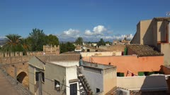 Old city wall of Alcudia, Majorca, Balearic Islands, Spain, Mediterranean, Europe