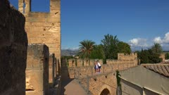 Old city wall of Alcudia, Majorca, Balearic Islands, Spain, Mediterranean, Europe
