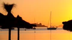 Morning mood at Puerto Pollenca, Badia de Pollenca, Majorca, Balearic Islands, Spain, Mediterranean, Europe
