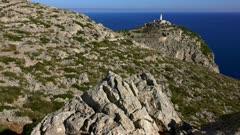 Lighthouse at Cap Formentor, Majorca, Balearic Islands, Spain, Mediterranean, Europe