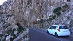 Road near Cala Figuera at Cap Formentor, Majorca, Balearic Islands, Spain, Mediterranean, Europe