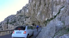 Road near Cala Figuera at Cap Formentor, Majorca, Balearic Islands, Spain, Mediterranean, Europe