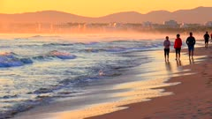 Morning mood at Playa de Muro, Badia d'Alcudia, Majorca, Balearic Islands, Spain, Mediterranean, Europe