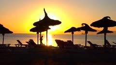 Morning mood at Playa Muro, Badia d'Alcudia, Majorca, Balearic Islands, Spain, Mediterranean, Europe