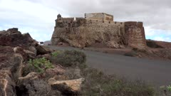 Castillo Santa Barbara near Teguise, Lanzarote, Canary Islands, Spain, Atlantic, Europe