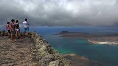 View from Mirador del Rio to La Graciosa, Lanzarote, Canary Islands, Spain, Atlantic, Europe