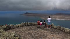 View from Mirador del Rio to La Graciosa, Lanzarote, Canary Islands, Spain, Atlantic, Europe