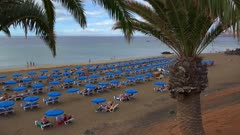 Beach at Puerto del Carmen, Lanzarote, Canary Islands, Spain, Atlantic, Europe