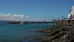Harbour of Playa Blanca, Lanzarote, Canary Islands, Spain, Atlantic, Europe