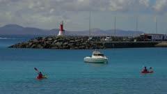 Harbour of Playa Blanca, Lanzarote, Canary Islands, Spain, Atlantic, Europe