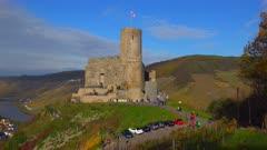 Ruin of Landshut Castle above Bernkastel-Kues, Moselle Valley, Rhineland-Palatinate, Germany, Europe