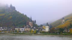 Bacharach and Stahleck Castle, Rhine River, Rhineland-Palatinate, Germany, Europe