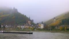 Bacharach and Stahleck Castle, Rhine River, Rhineland-Palatinate, Germany, Europe