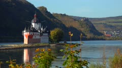 Pfalzgrafenstein Castle in Kaub, Rhine River, Rhineland-Palatinate, Germany, Europe
