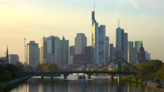 Frankfurt, Main River and skyline, Frankfurt am Main, Hesse, Germany, Europe