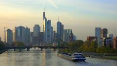 Frankfurt, Main River and skyline, Frankfurt am Main, Hesse, Germany, Europe