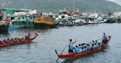 Dragon boat race, Shau Kei Wan, Hong Kong, China, Asia