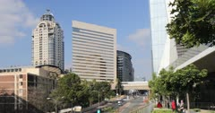 Michelangelo Towers and Intercontinental Hotel from Alice Lane Towers, Sandton, Johannesburg, Gauteng, South Africa, Africa