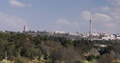 View of skyline from James and Ethel Gray Park, Melrose, Johannesburg, Gauteng, South Africa, Africa