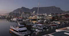 Victoria and Albert (Victoria and Alfred) (V) Waterfront at dawn, Cape Town, Western Cape, South Africa, Africa