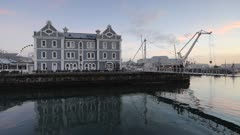 Victoria and Alfred (Victoria and Alfred) (V) Waterfront at dawn, Cape Town, Western Cape, South Africa, Africa