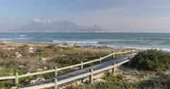 Table Mountain from Bloubergstrand, Cape Town, Western Cape, South Africa, Africa