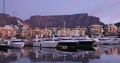 V Waterfront Marina and Table Mountain, Cape Town, Western Cape, South Africa, Africa