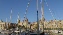 Cospiqua Grand Harbour Marina area on the way to Valletta, Malta, Mediterranean, Europe