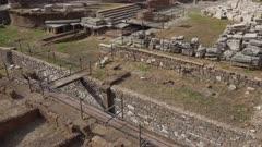 Archaeological site close to where Julius Caesar was killed, Largo di Torre Argentina, Rome, Lazio, Italy, Europe