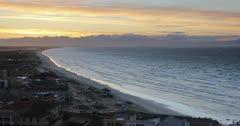 View of Muizenberg beach, Cape Peninsula, Cape Town, Western Cape, South Africa, Africa