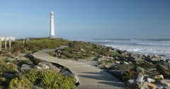 Slangkop lighthouse, Kommetjie, Cape Town, Western Cape, South Africa, Africa