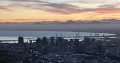 City Bowl at sunrise, Cape Town, Western Cape, South Africa, Africa
