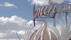 View of Flamingo Hotel and Casino facade on The Strip, Las Vegas Boulevard, Las Vegas, Nevada, United States of America, North America