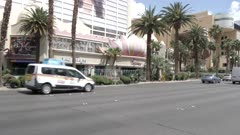 The sidewalk near the Flamingo Hotel and Casino on The Strip, Las Vegas Boulevard, Las Vegas, Nevada, United States of America, North America