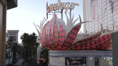View of Flamingo Hotel and Casino and traffic on The Strip, Las Vegas Boulevard, Las Vegas, Nevada, United States of America, North America