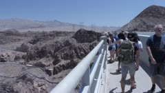 View of the Hoover Dam from the Mike O'Callaghan-Pat Tillman Memorial Bridge, Nevada/Arizona border, United States of America, North America