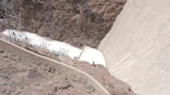 View of the wall of the Hoover Dam, Nevada/Arizona border, United States of America, North America
