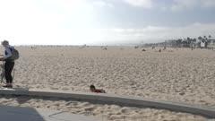 Skatepark on Ocean Walk at Venice Beach, Santa Monica, Los Angeles, California, United States of America, North America