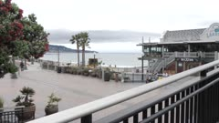 View of Pier and sea front at Redondo Beach, Los Angeles, California, United States of America, North America