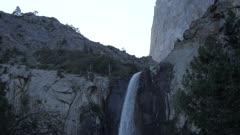 View of Upper Yosemite Falls from below, Yosemite National Park, UNESCO World Heritage Site, California, United States of America, North America