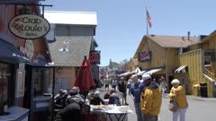 Visitors and shops, Old Fisherman's Wharf, Monterey Peninsula, California, United States of America, North America