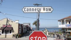 Cannery Row sign on Cannery Row, Monterey Peninsula, California, United States of America, North America
